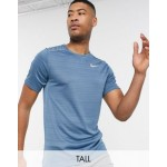 Nike Running Miler short sleeve top in blue