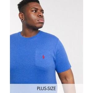 Polo Ralph Lauren Big & Tall player logo t-shirt in blue marl