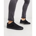 Polo Ralph Lauren hanford sneaker in black with tonal logo