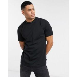 PS Paul Smith sports stripe neckline t-shirt in black