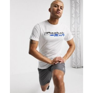 Reebok Training t-shirt with contrast logo in white