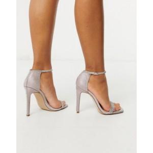 Steve Madden Collette strappy heeled sandal in blush glitter