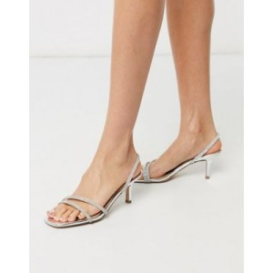 Steve Madden Loft-r strappy heeled sandal in rhinestone