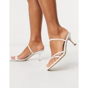 Steve Madden Loft strappy heeled sandal in white patent