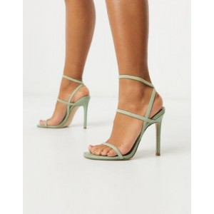Steve Madden Nectur strappy heeled sandal in mint