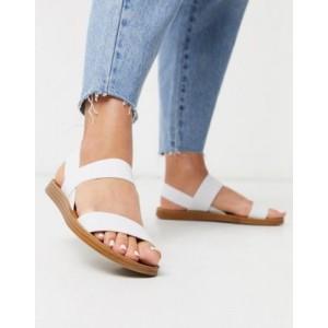Steve Madden Roma flat sandals in white