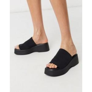Steve Madden Slinky chunky flatform sandal in black