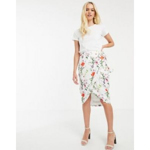 Ted Baker Camiila midi wrap skirt in hedgerow floral