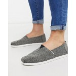 TOMS espadrilles recycled bottles black