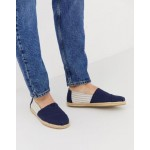 TOMS stripe espadrilles in navy