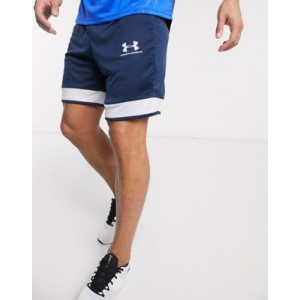 Under Armour Challenger shorts in navy