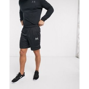 Under Armour Challenger shorts in triple black