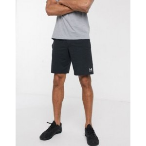 Under Armour cotton logo shorts in black