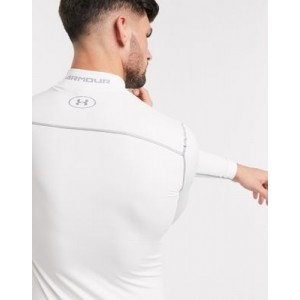 Under Armour Training coldgear mock neck long sleeve top in white