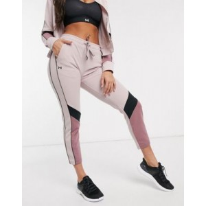 Under Armour Training double knit sweatpants in pink