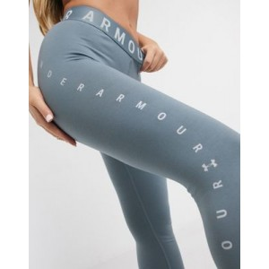 Under Armour Training jacquard cropped leggings in blue