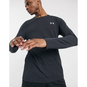 Under Armour Training seamless long sleeve top in black
