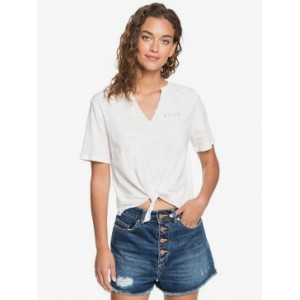 Classic Notched Tie-Front Tee