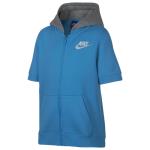 Nike Club Short-Sleeve Full-Zip Hoodie - Boys' Grade School