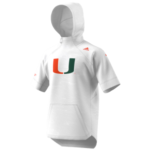 adidas College Warm-Up Hooded S/S Top - Men's