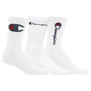 Champion 3 Pack Multi Logo Crew Socks - Men's