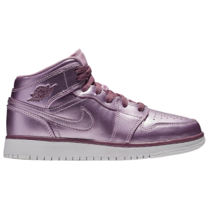 Jordan AJ 1 Mid - Girls' Grade School