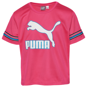 PUMA Mesh Multi T-Shirt - Girls' Grade School