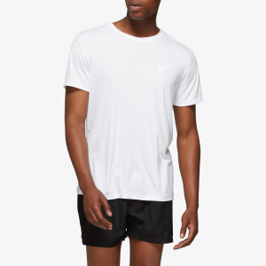 ASICS® Silver Short Sleeve T-Shirt - Men's