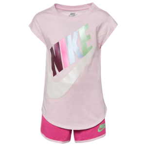 Nike Futura S/S T-Shirt & Shorts Set - Girls' Toddler