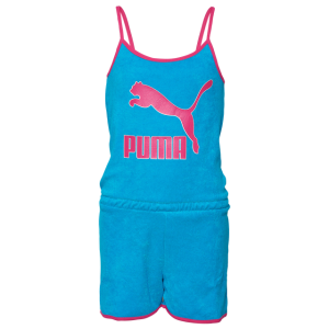 PUMA Terry Cloth Romper - Girls' Grade School