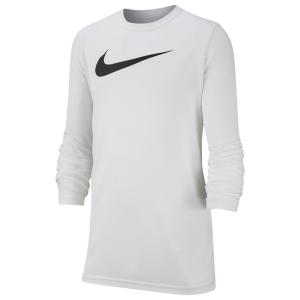 Nike Dry L/S Legend Swoosh Solid T-Shirt - Boys' Grade School