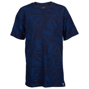 PUMA AOP Heritage Logo Oversized T-Shirt - Boys' Grade School