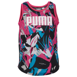 PUMA Mesh Floral Tank Top - Girls' Grade School