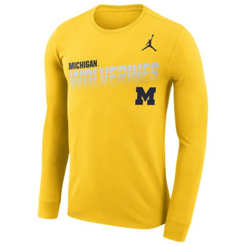 Jordan College Sideline Legend Logo L/S T-Shirt - Men's