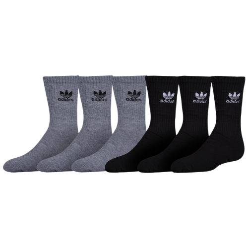 adidas Originals Trefoil 6-Pack Crew Socks - Boys' Grade School