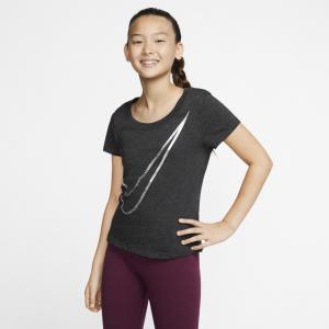 Nike NSW Scoop Shine Swoosh T-Shirt - Girls' Grade School
