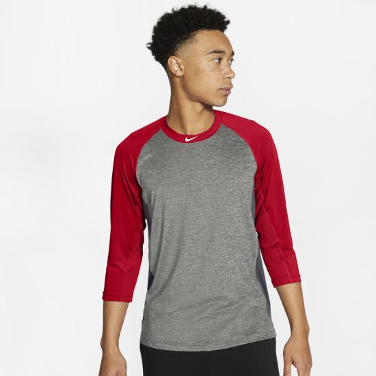 Nike Dry 3/4 Sleeve Baseball Top - Mens