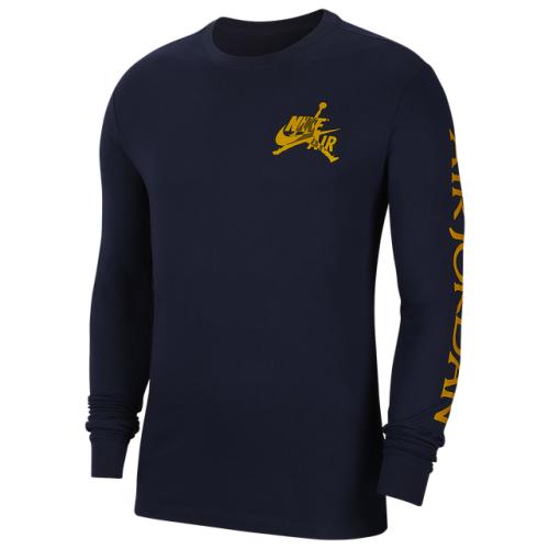 Jordan Classics Long Sleeve Crew T-Shirt - Men's