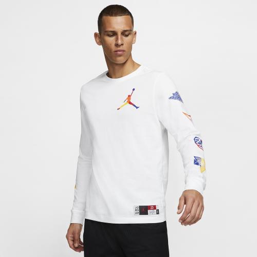 Jordan Sport DNA HBR Long Sleeve Crew T-Shirt - Mens