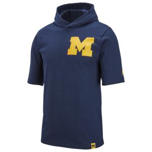 Jordan College Cotton S/S Hoodie T-Shirt - Men's
