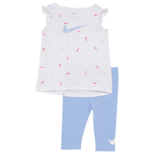 Nike Swooshfetti Tunic & Capris Set - Girls' Infant