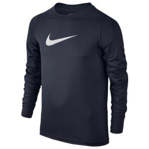 Nike Dri-FIT Swoosh L/S T-Shirt - Boys' Grade School