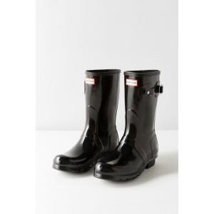 Hunter Original Short Gloss Buckled Rain Boot
