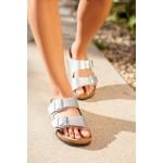 Birkenstock Arizona Silver Sandal