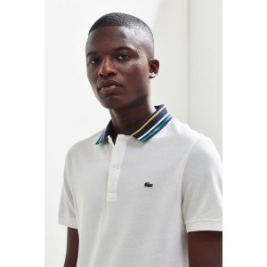 Lacoste Slim Fit Striped Collar Polo Shirt