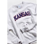 Champion UO Exclusive University Of Kansas Inside Out Crew-Neck Sweatshirt