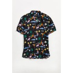 Barney Cools Holiday Short Sleeve Button-Down Shirt