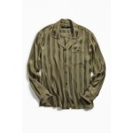 Loom Tonal Stripe Long Sleeve Button-Down Pajama Shirt