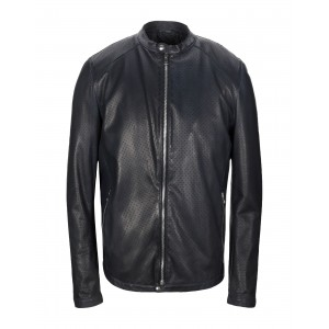GREY DANIELE ALESSANDRINI - Leather jacket