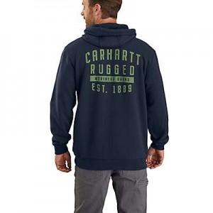 Carhartt Original Fit Midweight Hooded Rugged Workwear Graphic Sweatshirt